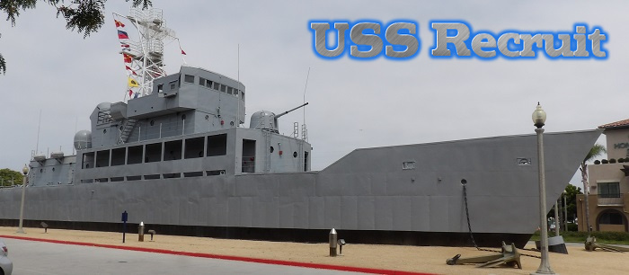 Also known as the USS Neversail, the USS Recruit was a 2/3s sized training ship.