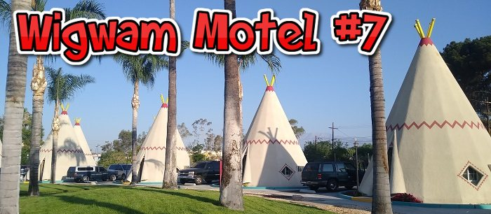 The Wigwam Motel lets you stay the night in a teepee.
