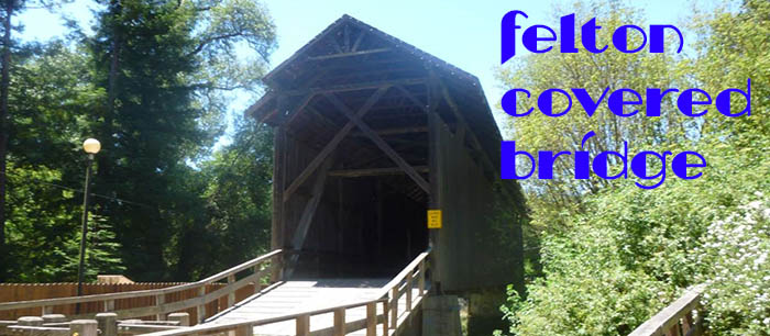 The tallest covered bridge in the US can be found in Felton.