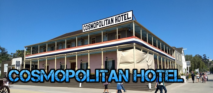 Haunted with several spirits the former Casa de Bandini is now the Cosmopolitan Hotel!