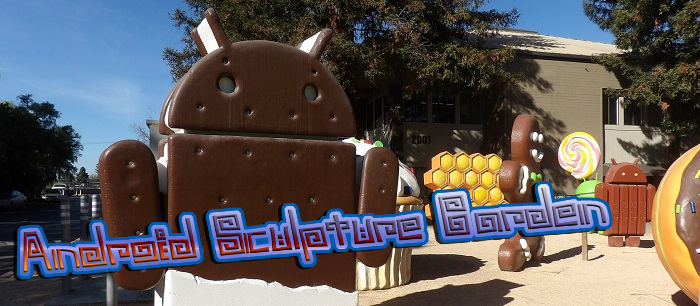 Google puts up a new statue in their garden for each new code base of the Android OS.