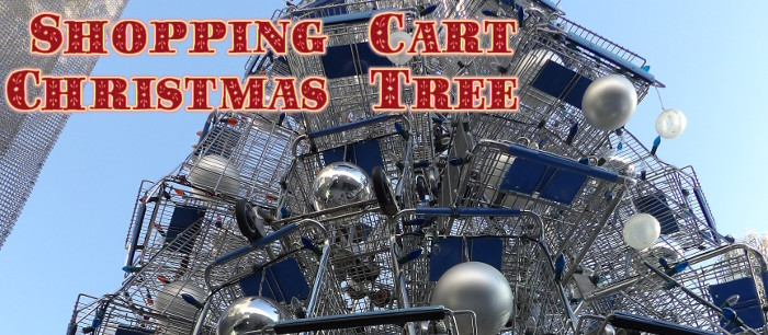Every year, Santa Monica puts up a Shopping Cart Christmas Tree for the holidays!