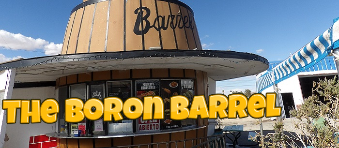 Boron plays host to giant barrel that is a former A&W Root Beer stand!