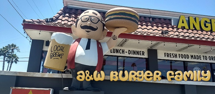 A&W Root Beer Mascots - the Burger Family